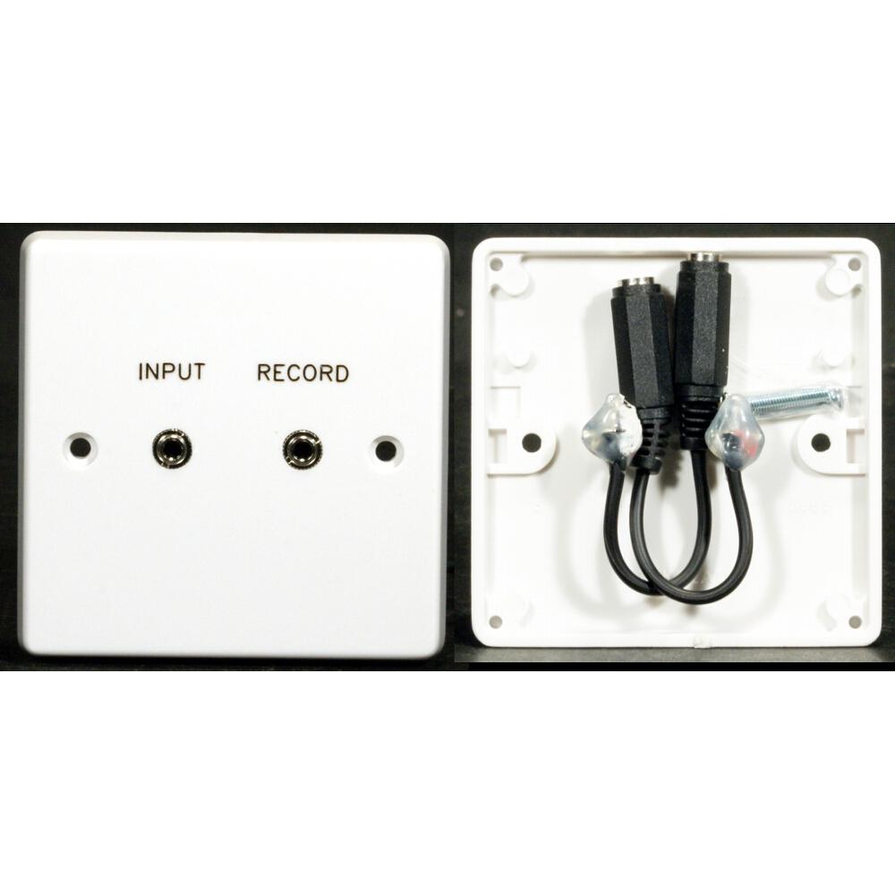 hight resolution of  av wall plate plastic 1g 2 x 3 5mm jack f to