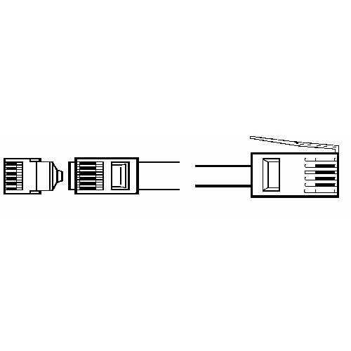 Lead PC RJ11 modem plug to BT plug, two wire 2 metres