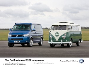 Old and new campervans