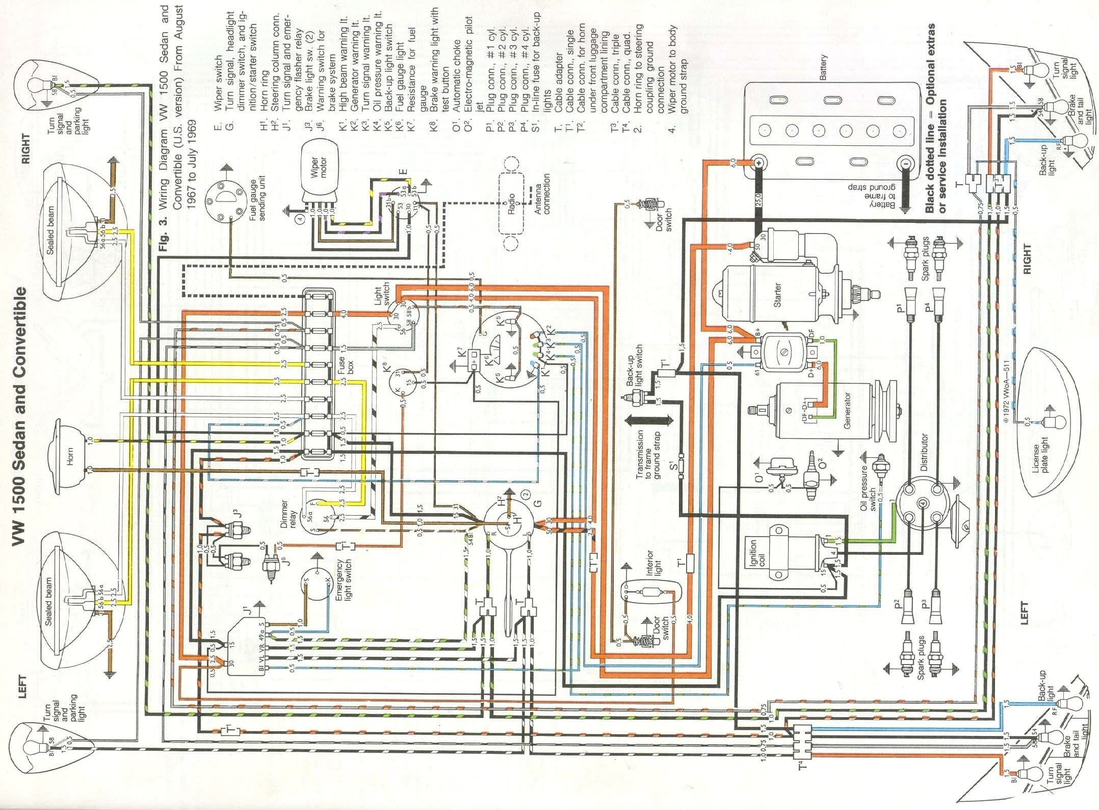 motor wiring diagram u v w boat battery vw restoration maintenance