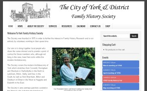 York & District Family History Society Web Site