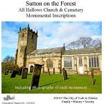Sutton on the Forest Monumental Inscriptions – NEW today