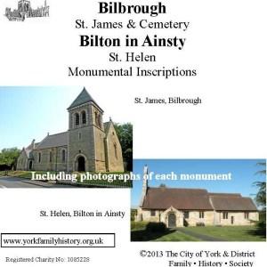 Biborough & Bilton in Ainsty memorial Inscriptions