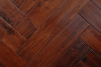 herringbone patterned hand scraped acacia walnut wood flooring