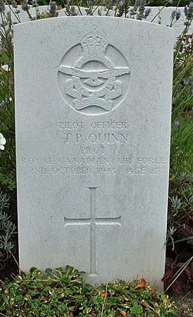 Patrick Quinn's headstone