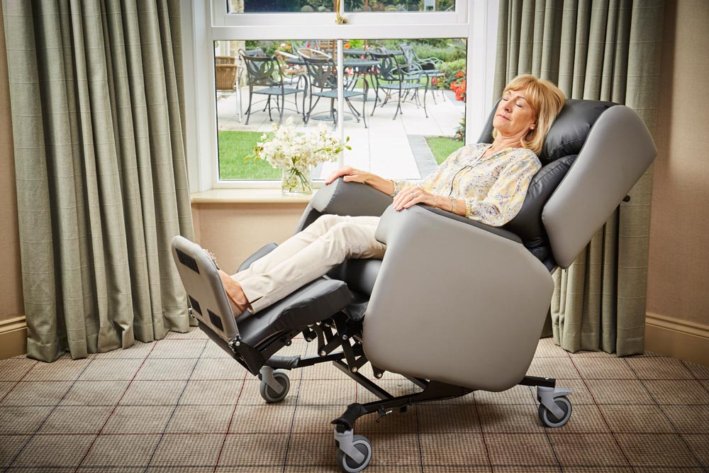 kirton chair accessories shower chairs for elderly lento care yorkshire equipment covered in cool material feel better people with arthritis who often report that their