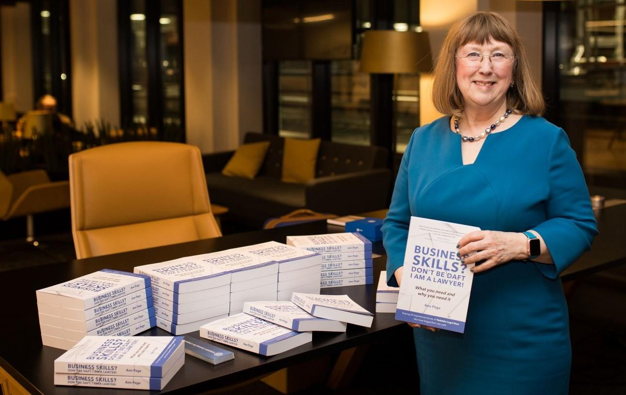 Ann Page, founder of Yorkshire courses for lawyers at her book launch