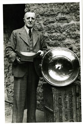A proud Wensleydale cheesemaker (collection Dales Countryside Museum)