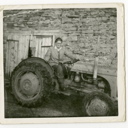 John Simpson as a young man at Gildersbeck Farm. Courtesy of John Simpson