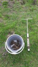 My trusty bucket and soil corer