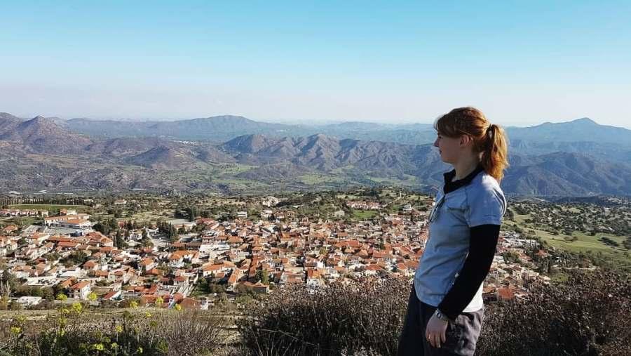 Soaking in the Cyprus scenery