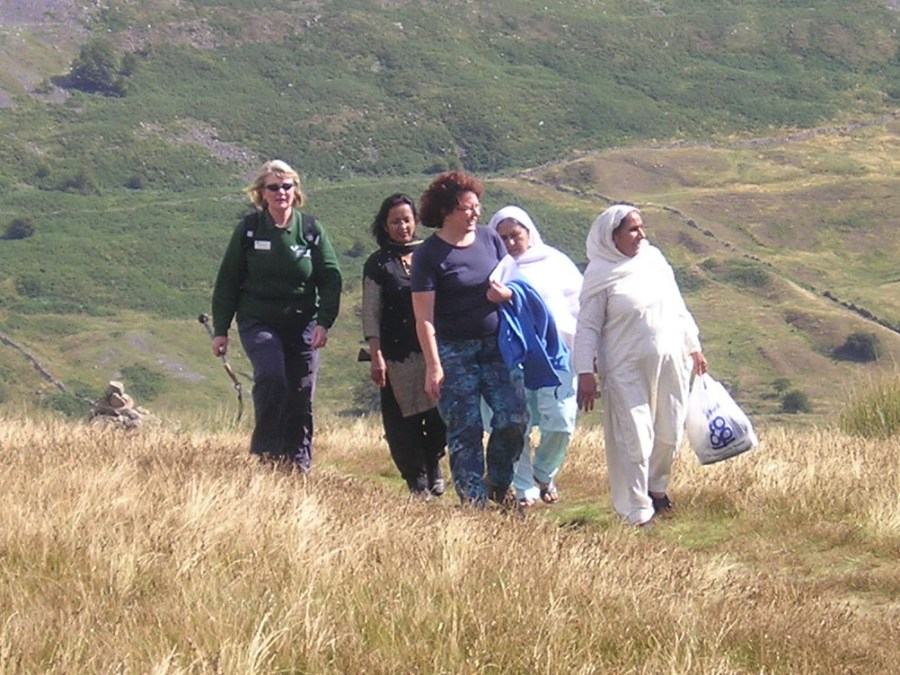Walking group with a Dales Volunteer