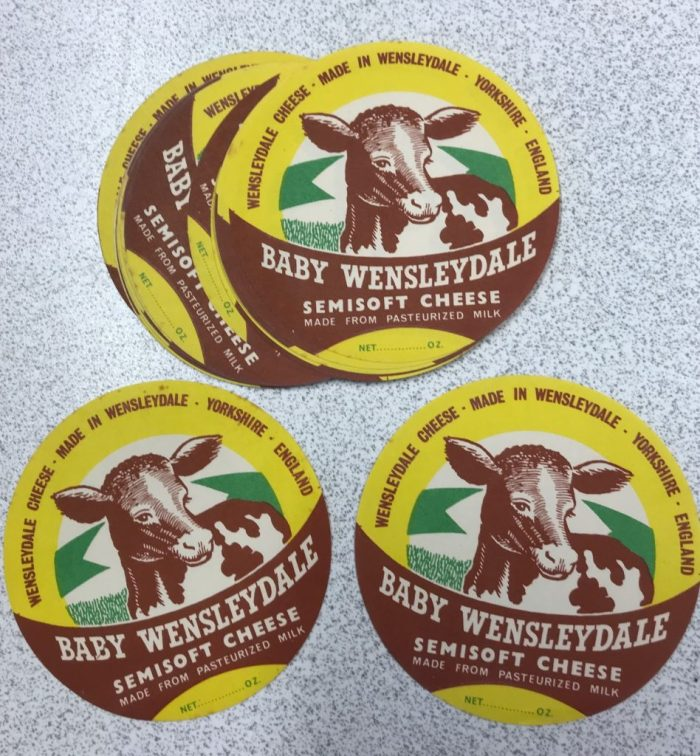 Baby Wensleydale Cheese labels. 1980s. Courtesy of Ian Millward