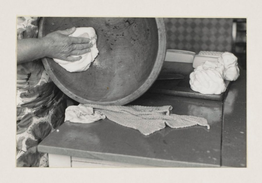 Buttermaking. Early 1960s. © University of Leeds. Reproduced with the permission of Special Collections, Leeds University Library. Photographer Werner Kissling