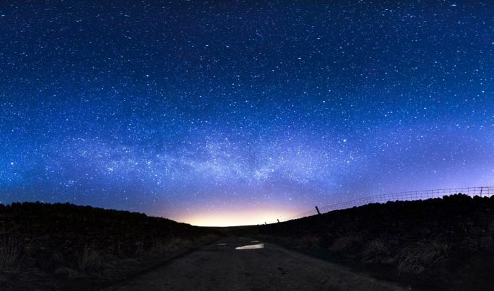 Starry night sky at Grimwith