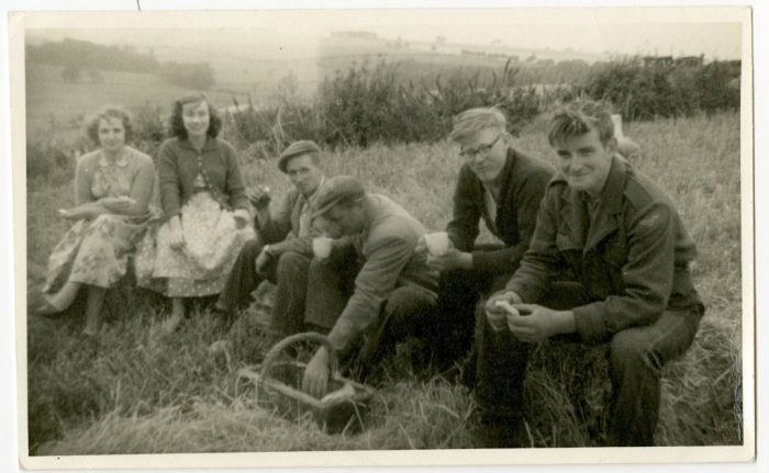 Haytime drinkings at Gildersbeck. 1950s. Courtesy of John Simpson