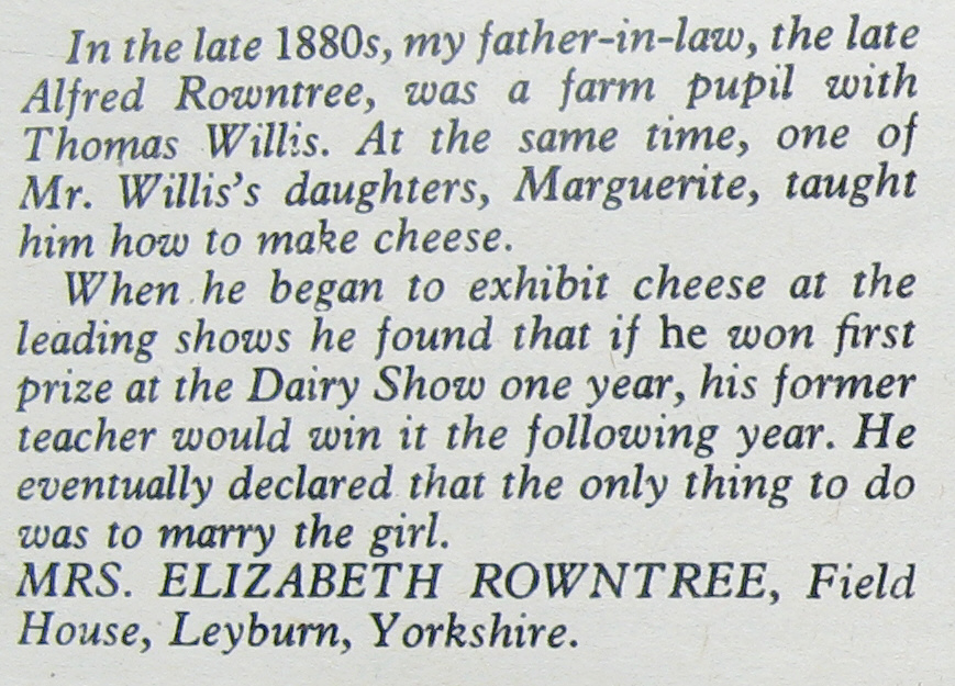 Extract from an article by Elizabeth Rowntree. Unknown date. Courtesy of Charles Rowntree