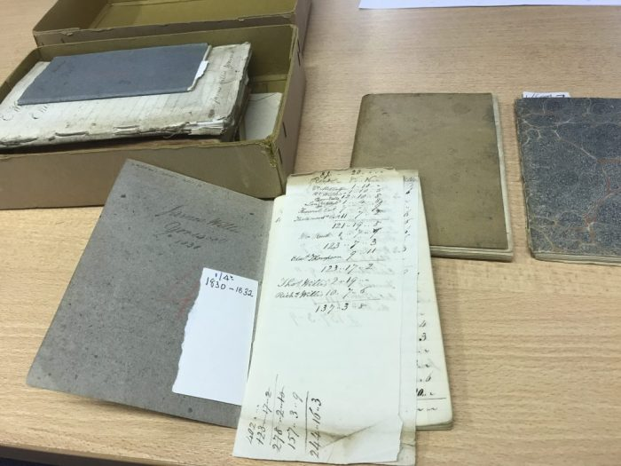 Collection of Yorescott farm account books at the Dales Countryside Museum