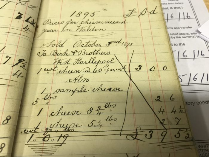 Record of sales to Birk & Brothers of West Hartlepool
