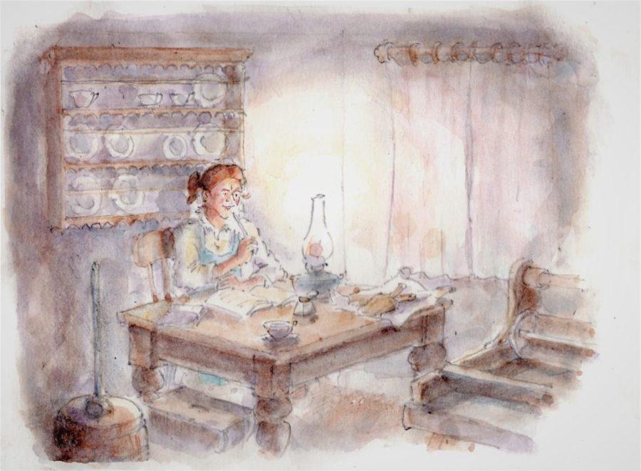 Jane Elizabeth Thwaite of Rountengill Farm, Walden. Artist: James Innerdale