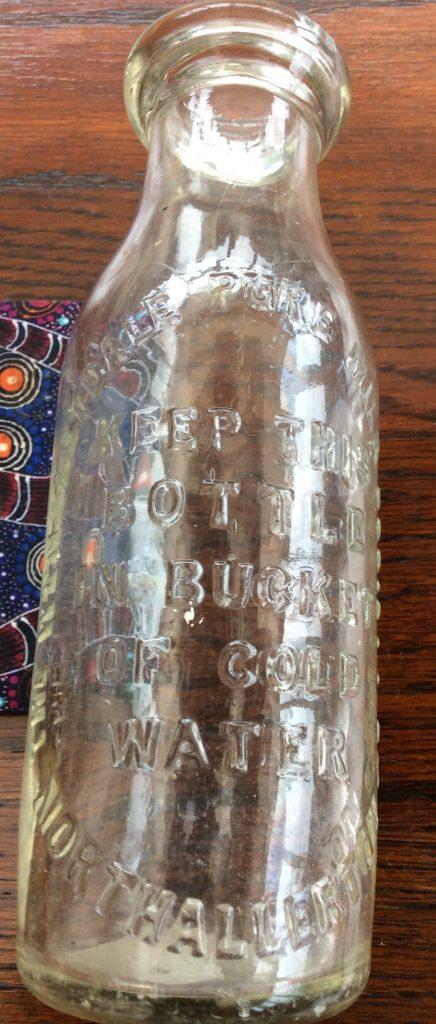 Wensleydale Pure Milk Society milk bottle. Courtesy of The Mulbery Bush, Hawes