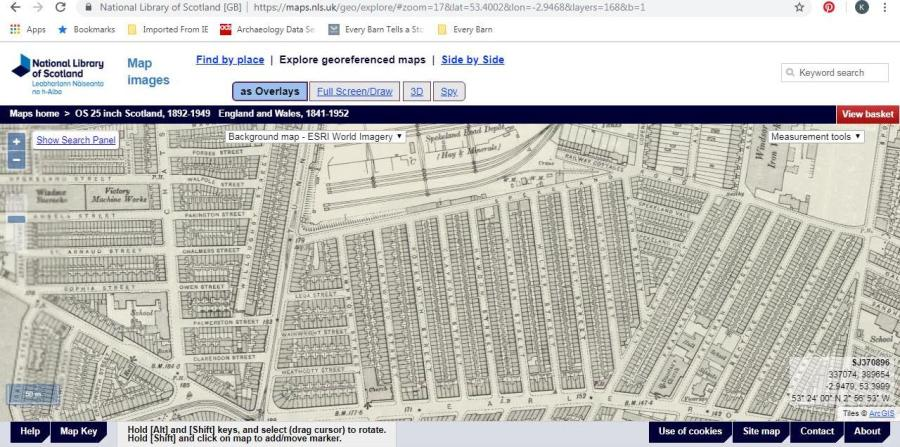 OS 25-inch map c1842. From National Library of Scotland website