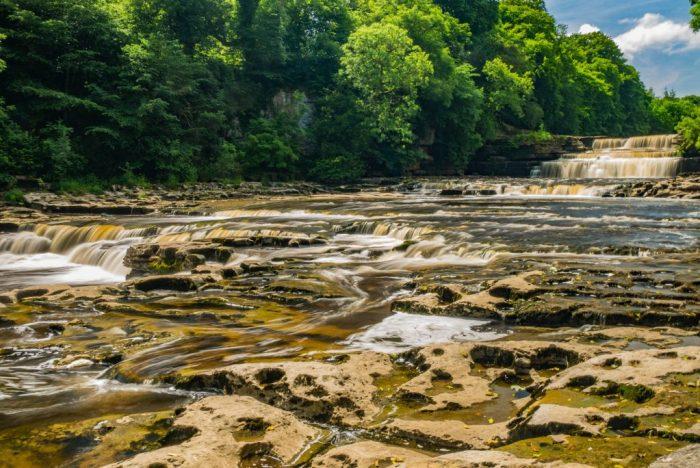 Aysgarth Falls in Summer