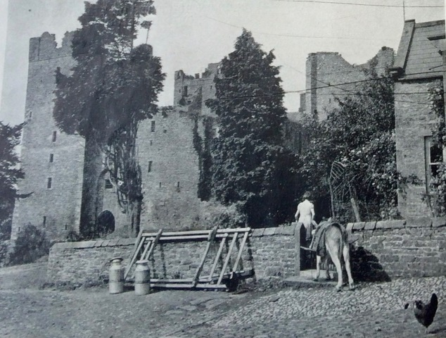 Donkey delivering milk, Castle Bolton. Courtesy of John Duncalfe