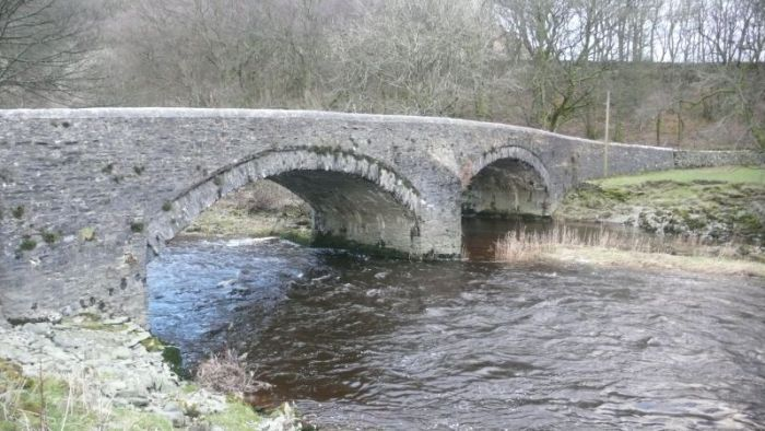 Salterwath Bridge over the river Lune. From British Listed Buildings