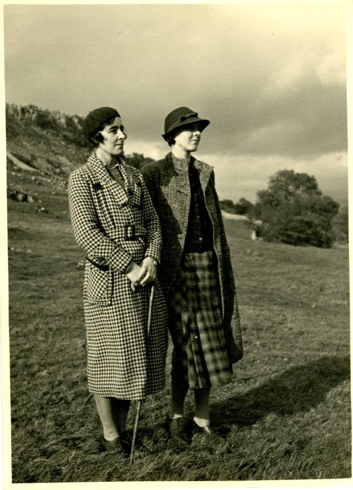 Ella Pontefract and Marie Hartley in the Dales in the late 1930s
