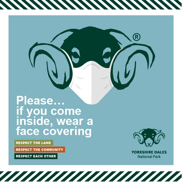 An image of the Yorkshire Dales National Park Authority Face Mask Infographic