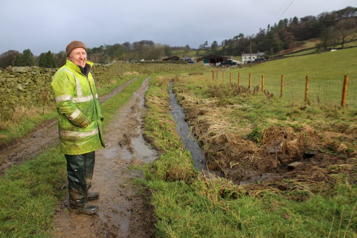 'I saw a dragonfly here last summer,' said farmer Anthony Bradley next to Mearbeck, which has been fenced off to create a wildlife friendly area