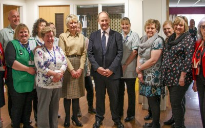 Local MP visits extra care housing scheme, Deansfield Court