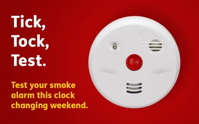It's time to test your smoke alarm