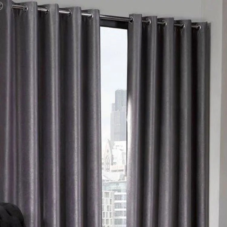 Logan Silver Eyelet Ring Top Thermal Blackout Curtains Yorkshire Linen Beds And More