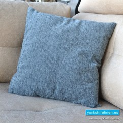 Chenille Sofa Fabric Care Cheap Leather Recliner Sofas Uk Basic Sky Blue Cushions - Yorkshire Linen ...