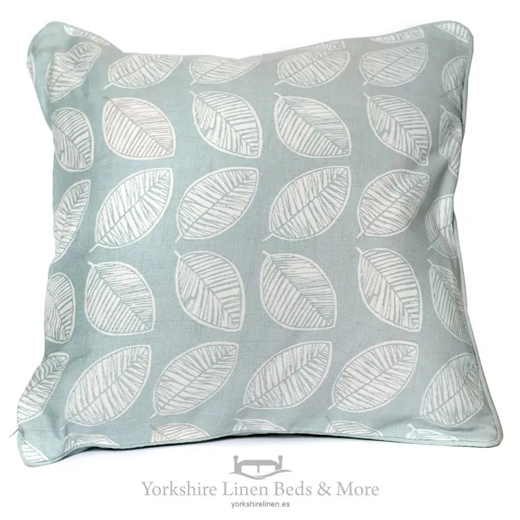 delia linen look cushions in duck egg blue