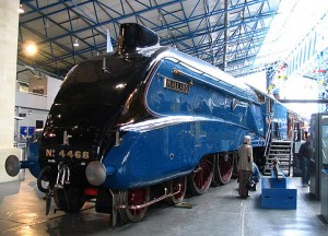 Blue Train at the Railway Museum in York