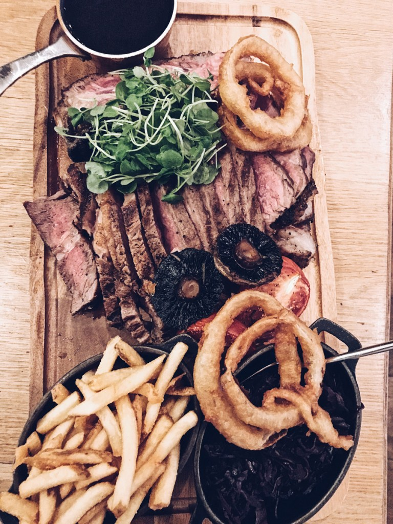 Steak main at the devonshire arms spa hotel at bolton abbey