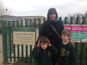 Zoe Walker and children.
