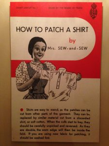 A wartime pamphlet detailing how to mend clothes. Credit: Leeds Museums and Galleries.