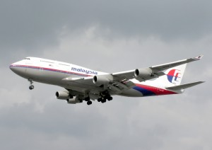 A Malaysia Airlines Boeing 777 - a similar model to Flight MH370