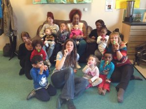 The Little Voices music group has its final session at Harehills Children's Centre