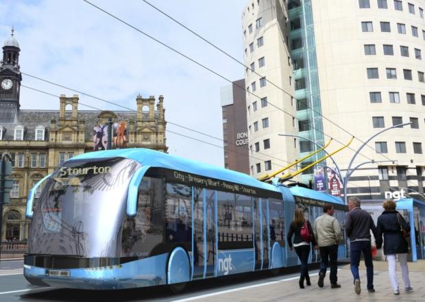 Artist's impression of the Leeds Trolleybus