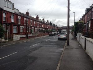 A picture taken of Sutherland Terrace in Burmantofts