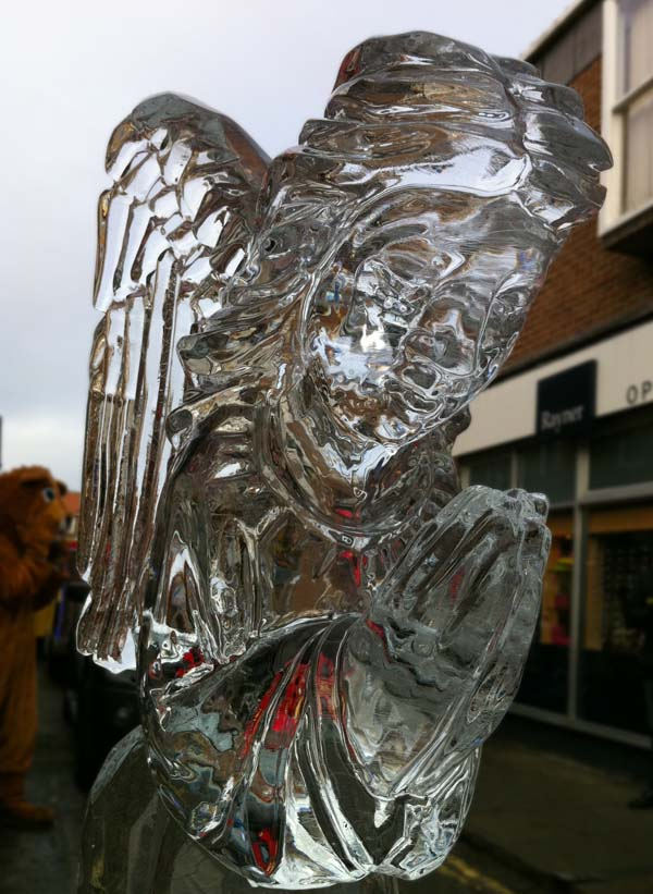 angel ice sculpture york