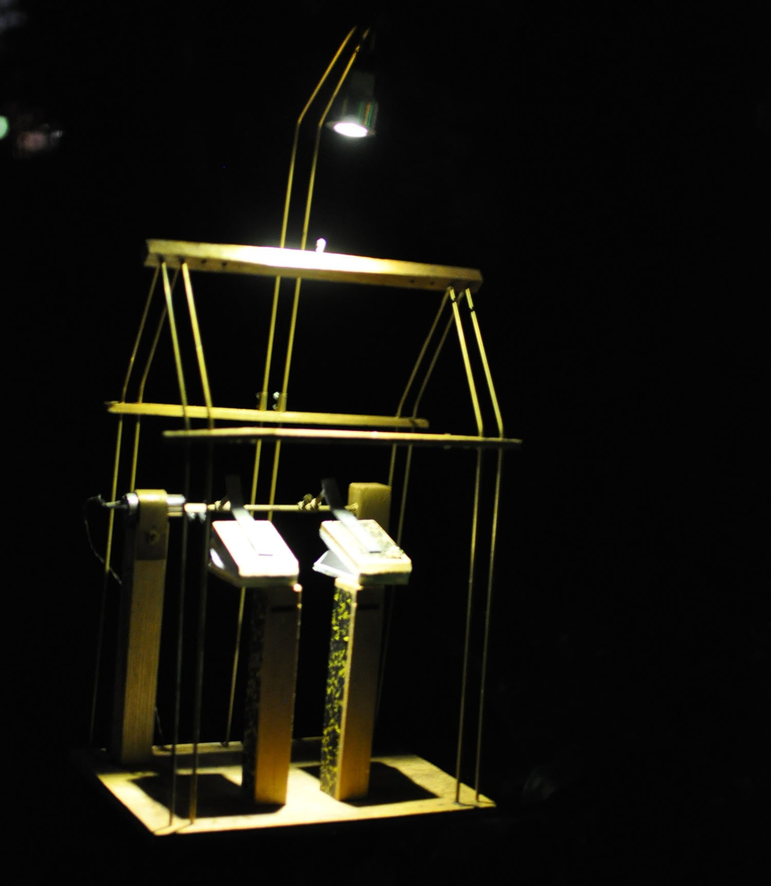 Illuminating York 2015 - The Museum Gardens - Mechanical device with Cuckoo sound effect