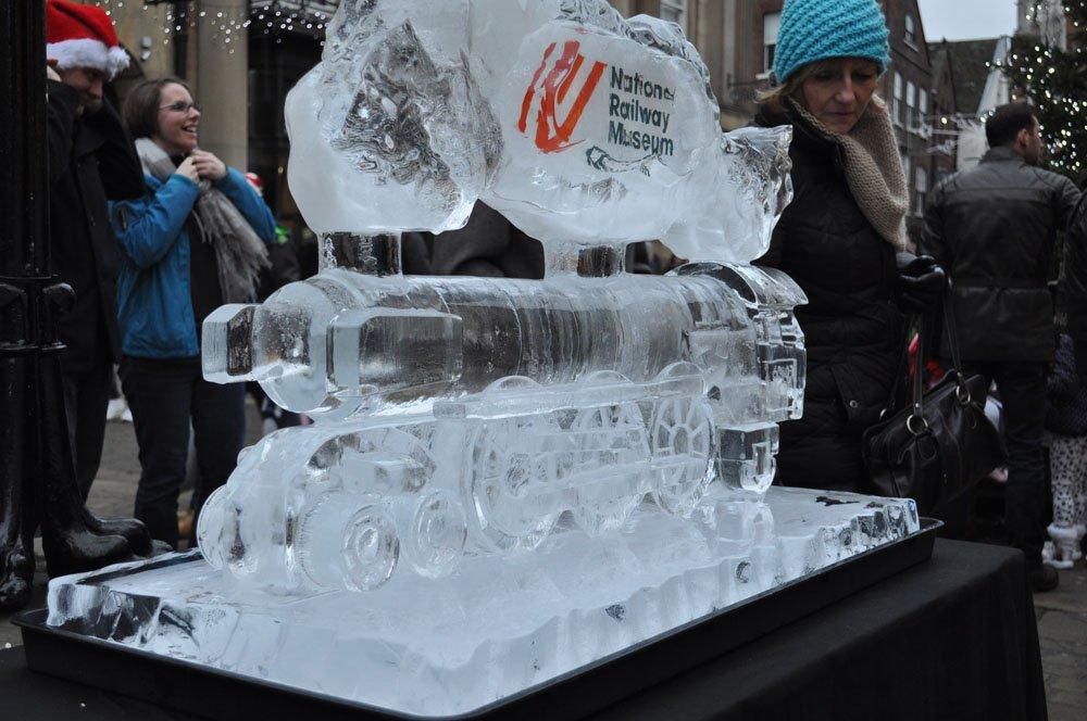 York Railway Museum Ice Sculpture