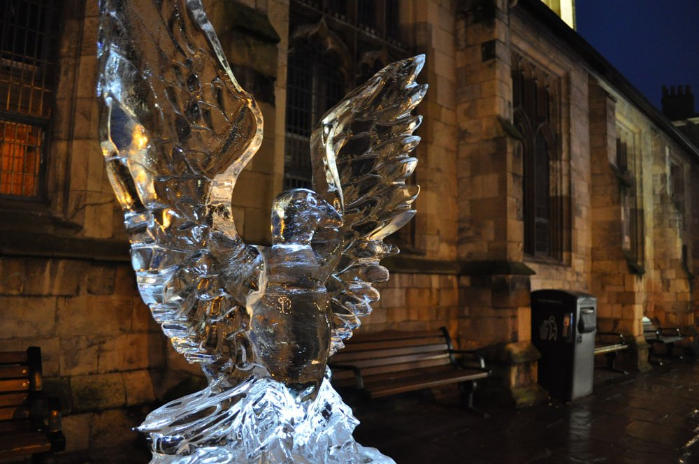 Ice Sculpture Eagle - York St John University York