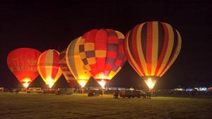 Hot Air Balloon night glow - York